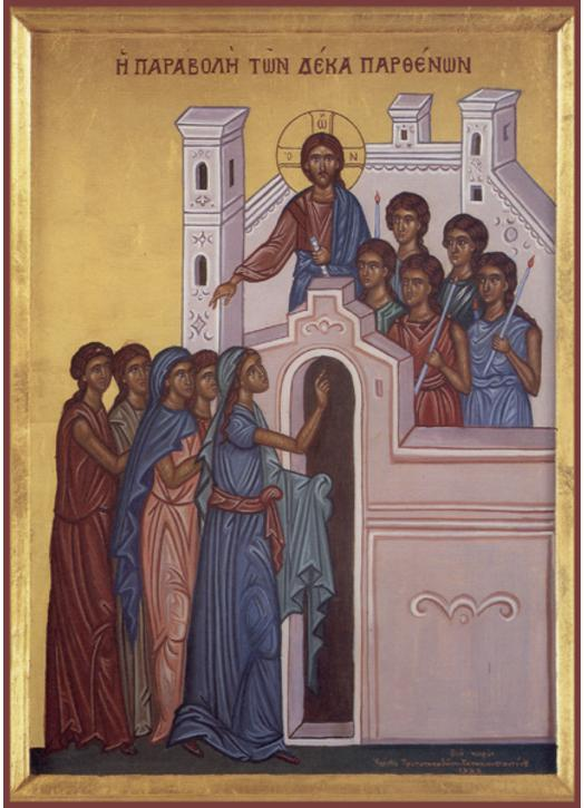 Icon of The Parable of the Ten Virgins