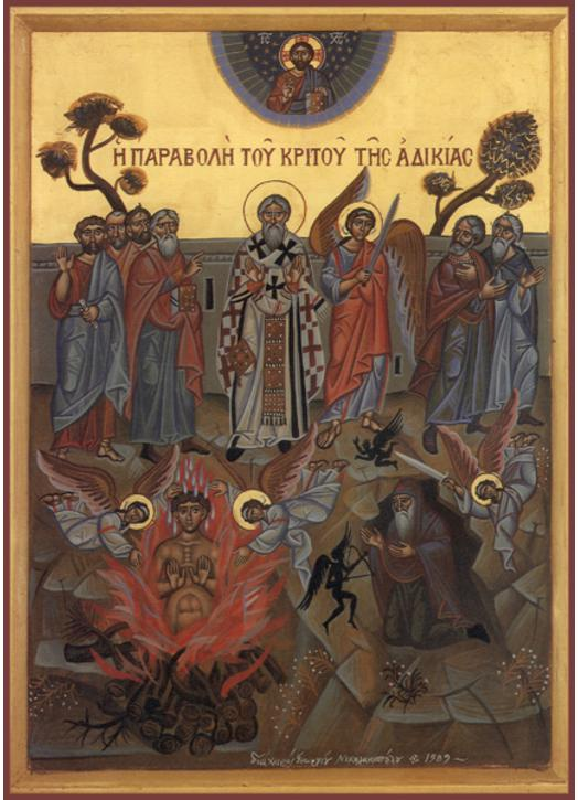 Icon of The Parable of Injustice to the Superior