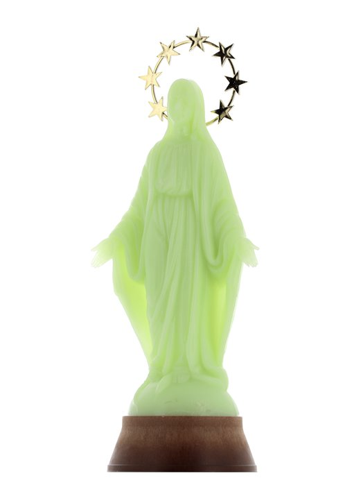 Statue of the Virgin Miraculous fluorescent, 30 cm
