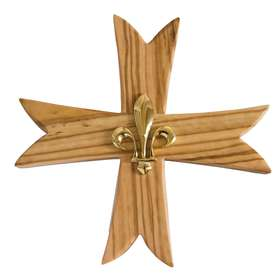 Scout cruz con lirio - 15 cm