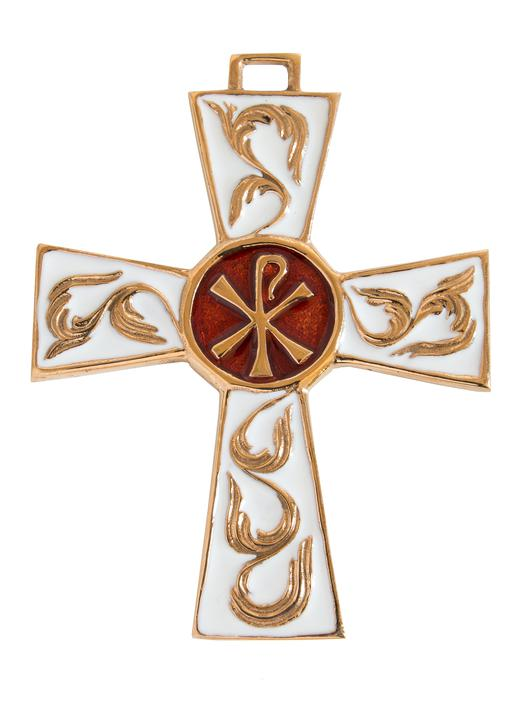 Bronze cross with chrism - 9.3 cm