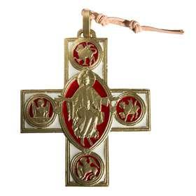 Bronzen kruis en Christus van Vezelay - 7,5 cm