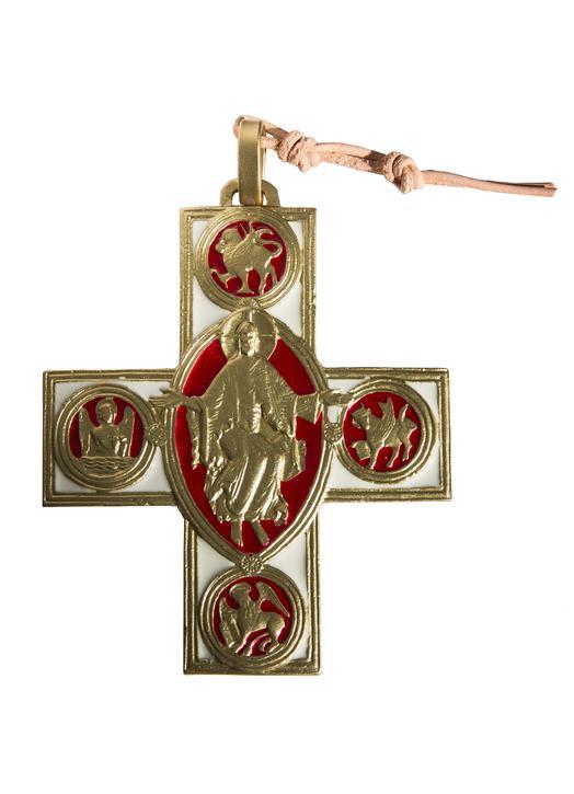 Cruz de bronce y Cristo de Vézelay - 7,5 cm