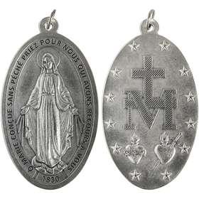 Médaille Miraculeuse en métal - 80 mm