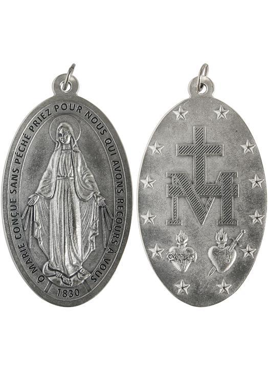 Miraculeuze medaille, metaal - 80 mm