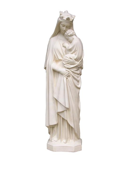 Statue de Notre-Dame de la Sagesse, 72 cm (vue de face)
