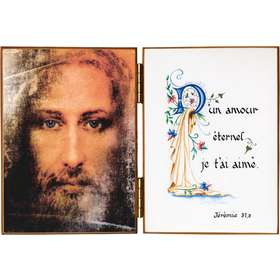Face of Jesus  and a quotation from Jeremiah