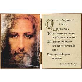 Gezicht van Jezus en het eenvoudig gebed van St Franciscus van Assisi