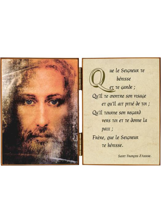 Face of Jesus and the prayer of St. Francis of Assisi