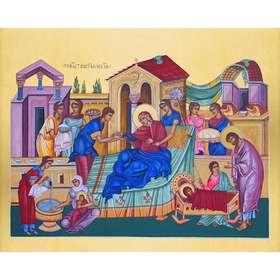 Icoon van de geboorte van de Moeder Gods