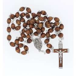 Wood undetachable rosary