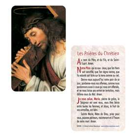 Card-prayer of Christ in cross