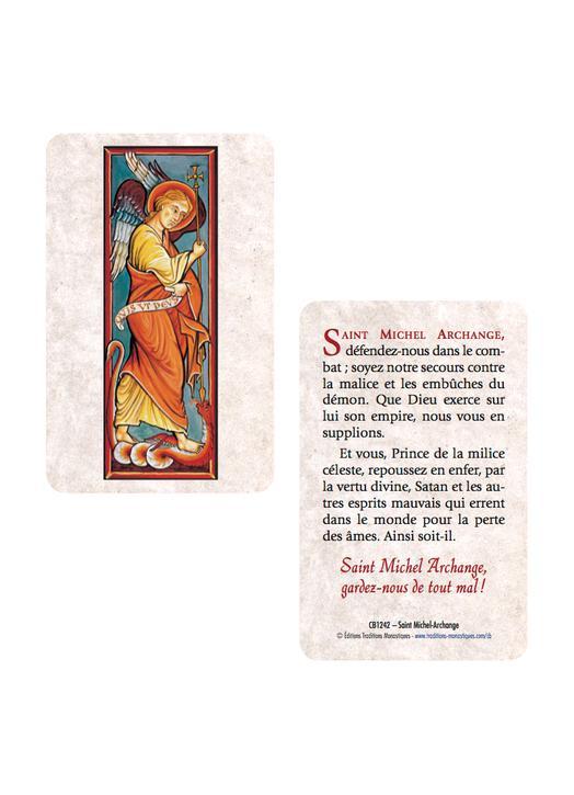 Card-prayer Saint Michael