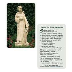 Cartes-prière Saint François d'Assise