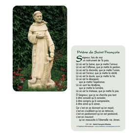 Card-prayer Saint Francis of Assisi