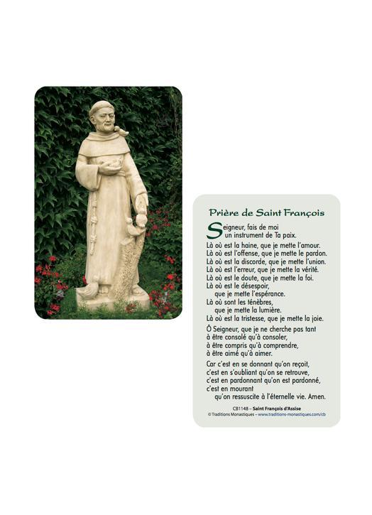 Card-prayer Saint Francis of Assisi