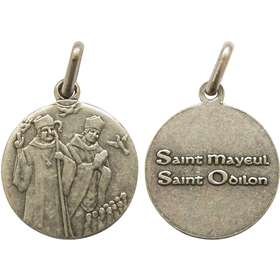 Medal of Saint Maïeul and Saint Odilon, 18 mm