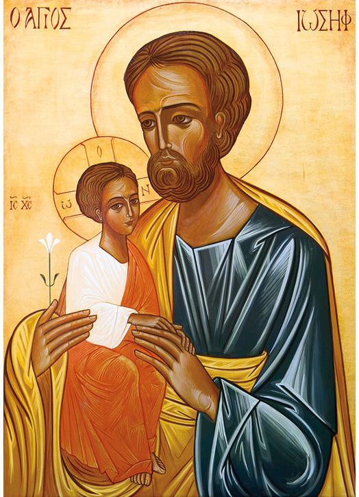 Ikoon van Sint-Jozef en Het Kind Jezus