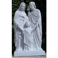 Standbeeld van de Heilige Familie, gereconstitueerd marmer, 50 cm (Vue de face - 1)