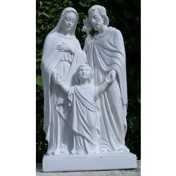 Statue of the Holy Family, reconstituted marble, 50 cm (Vue de face - 1)