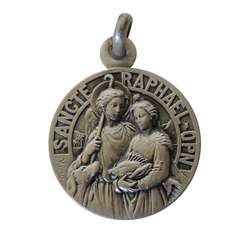 Medal of Saint Raphaël 18mm, sterling silver