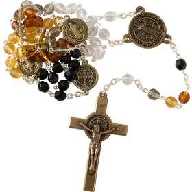 Rozenkrans van heilige Benedictus, amber kleur