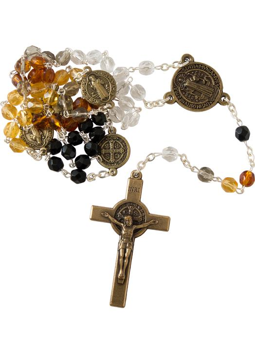 Rosary of saint Benedict, amber color