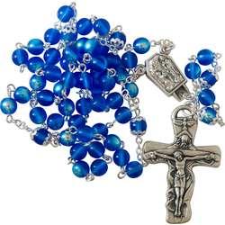 Onze-Lieve-Vrouw van Lourdes-rozenkrans in Boheems glas (Chapelet)