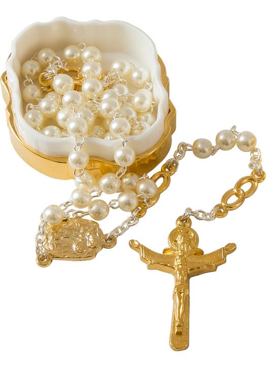 Wedding rosary for woman imitation pearls (Chapelet)