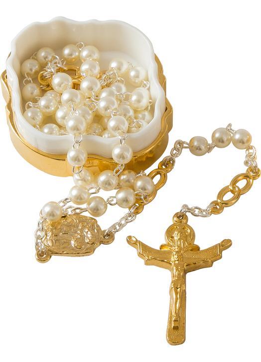 Rosario de boda para mujer perlas de imitación (Chapelet)