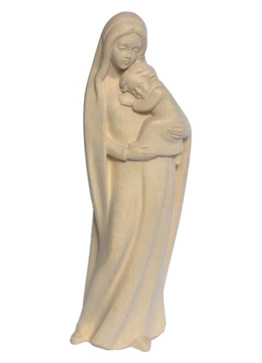Statue of Virgin and Child in wood, 20 cm (Vue de face)
