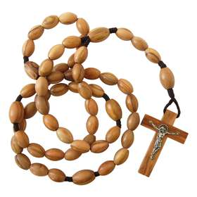 Olive wood Rosary, large size
