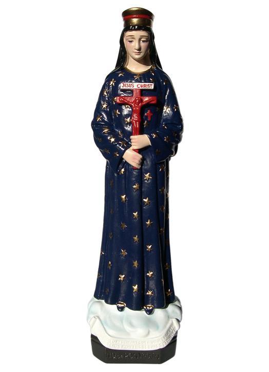 Statue de Notre-Dame de Pontmain, 32 cm (Vue de face)