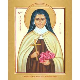 Contemporary icon of Saint Theresa of the Child Jesus