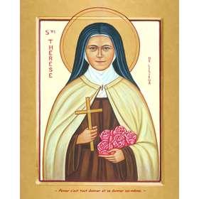 Icône contemporaine de sainte Thérèse de l'Enfant-Jésus