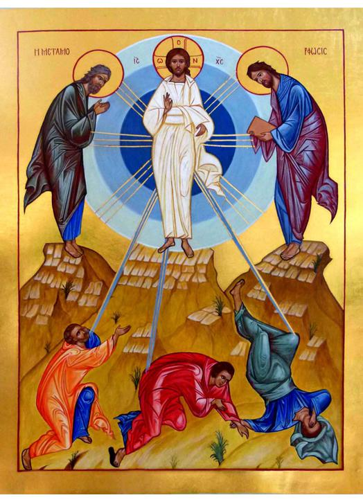 Contemporary icon of the Transfiguration