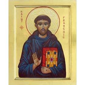 icono de San Francisco de Asís con estigmas