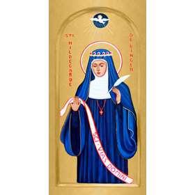 Icône de sainte Hildegarde de Bingen, Abbesse