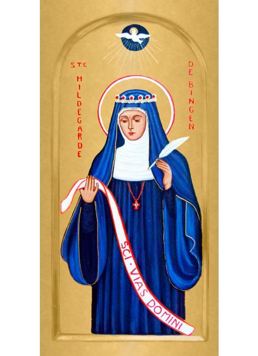 Icon of saint Hildegarde de Bingen, Abbess