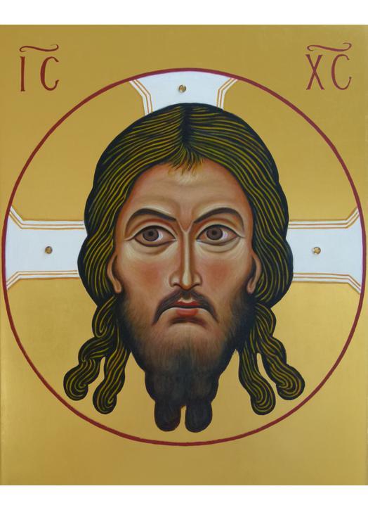 Christ face icon