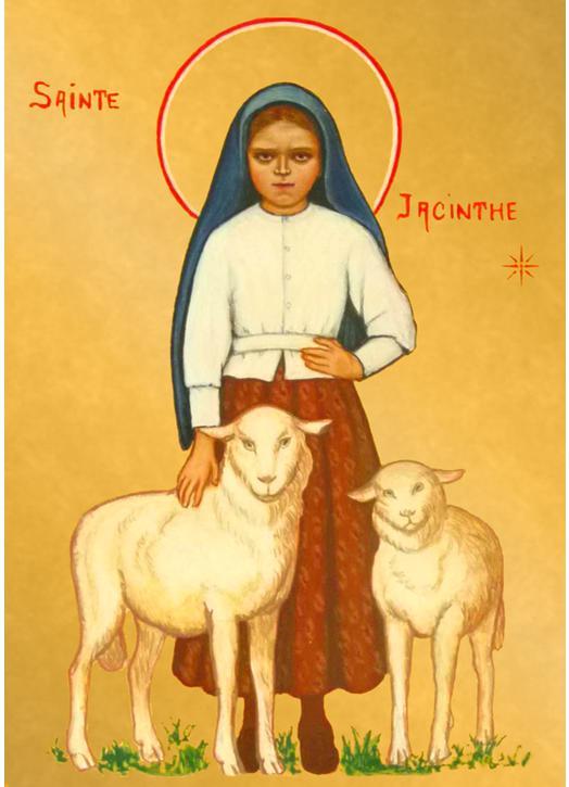 Icono de Santa Jacinta de Fátima