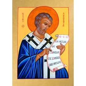 """Icono de San Agustín, """"La mesure de l'Amour"""""""