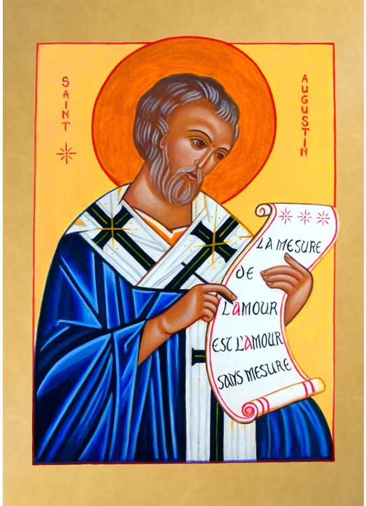 """Icône de Saint Augustin, """"La mesure de l'Amour"""""""
