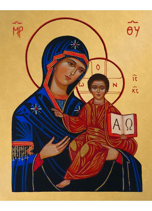 Icon of the Virgin and the  Alpha and Omega
