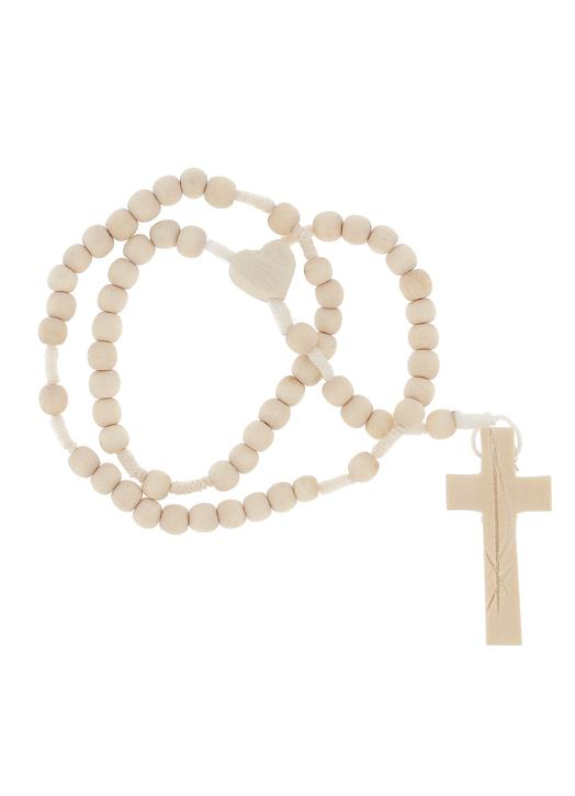 White wooden rosary