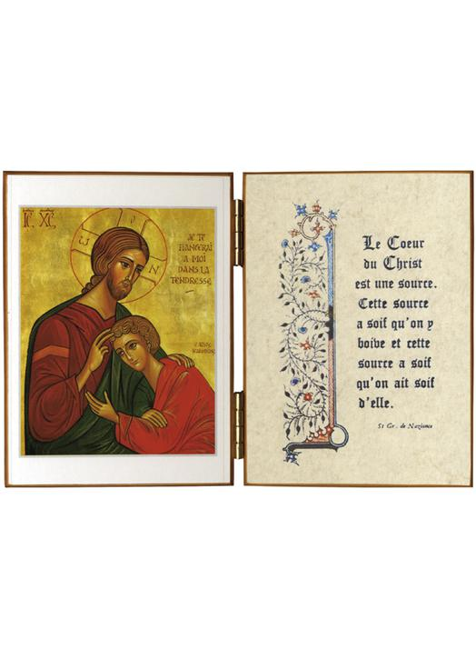 Diptyques religieux le christ et st jean cadeau communion for Jean d ormesson si tu savais najat