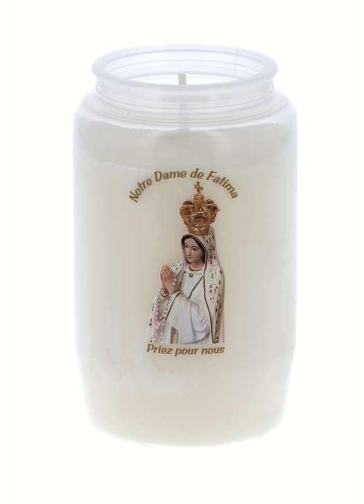 Votief nachtlampje van Onze Lieve Vrouw van Fatima
