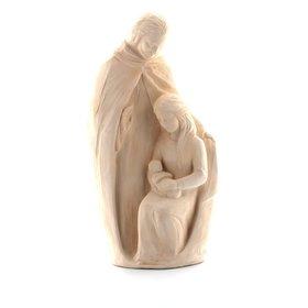 Estatua de la Sagrada Familia, 30 cm, color piedra