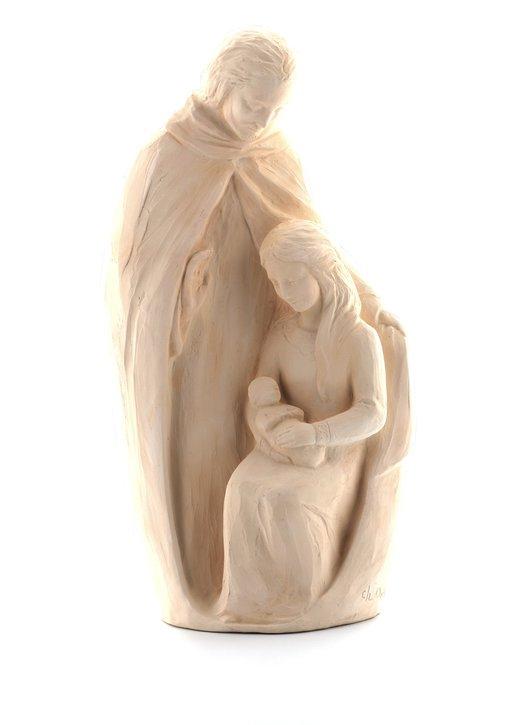 Statue de la Sainte Famille, 30 cm, ton pierre
