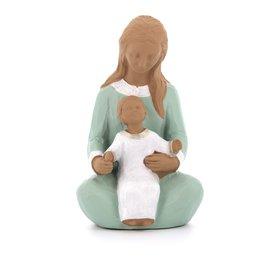 Estatua de Nuestra Señora de la Bienvenida, 15 cm, policromada